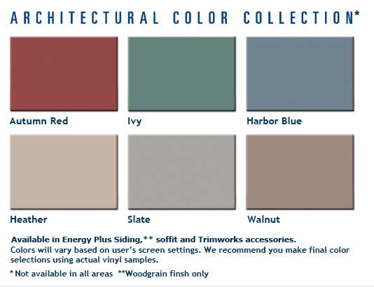 Architectural Siding Color Collection
