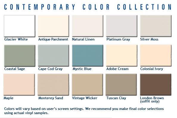 Contemporary Siding Color Chart