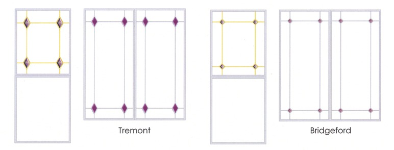 Tremont and Bridgeford glass decoration comparison diagram