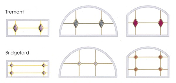 Tremont and Bridgeford glass design comparison diagram