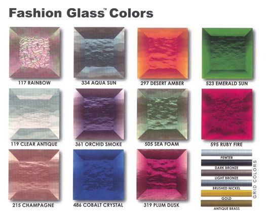Fashion Glass Colors Diagram