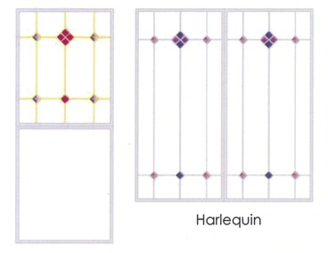 Harlequin glass design