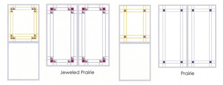 Jeweled Praire and Praire glass designs