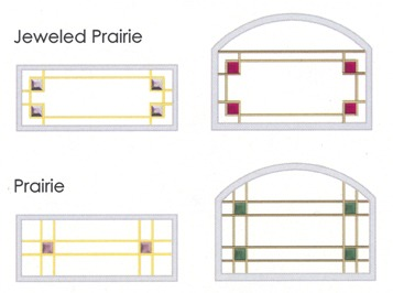 Jeweled Praire and Praire alternative glass designs