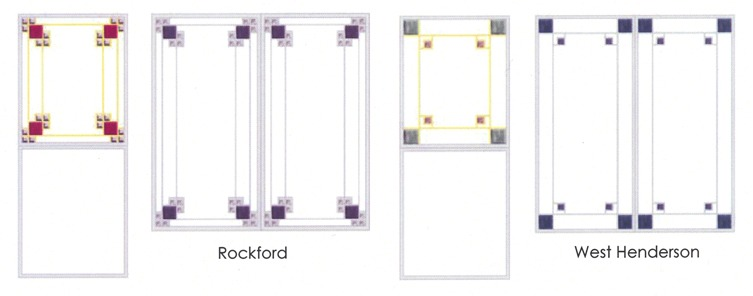 Rockford and west Henderson glass design comparison diagram