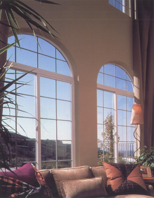 Two large rounded top windows side-by-side