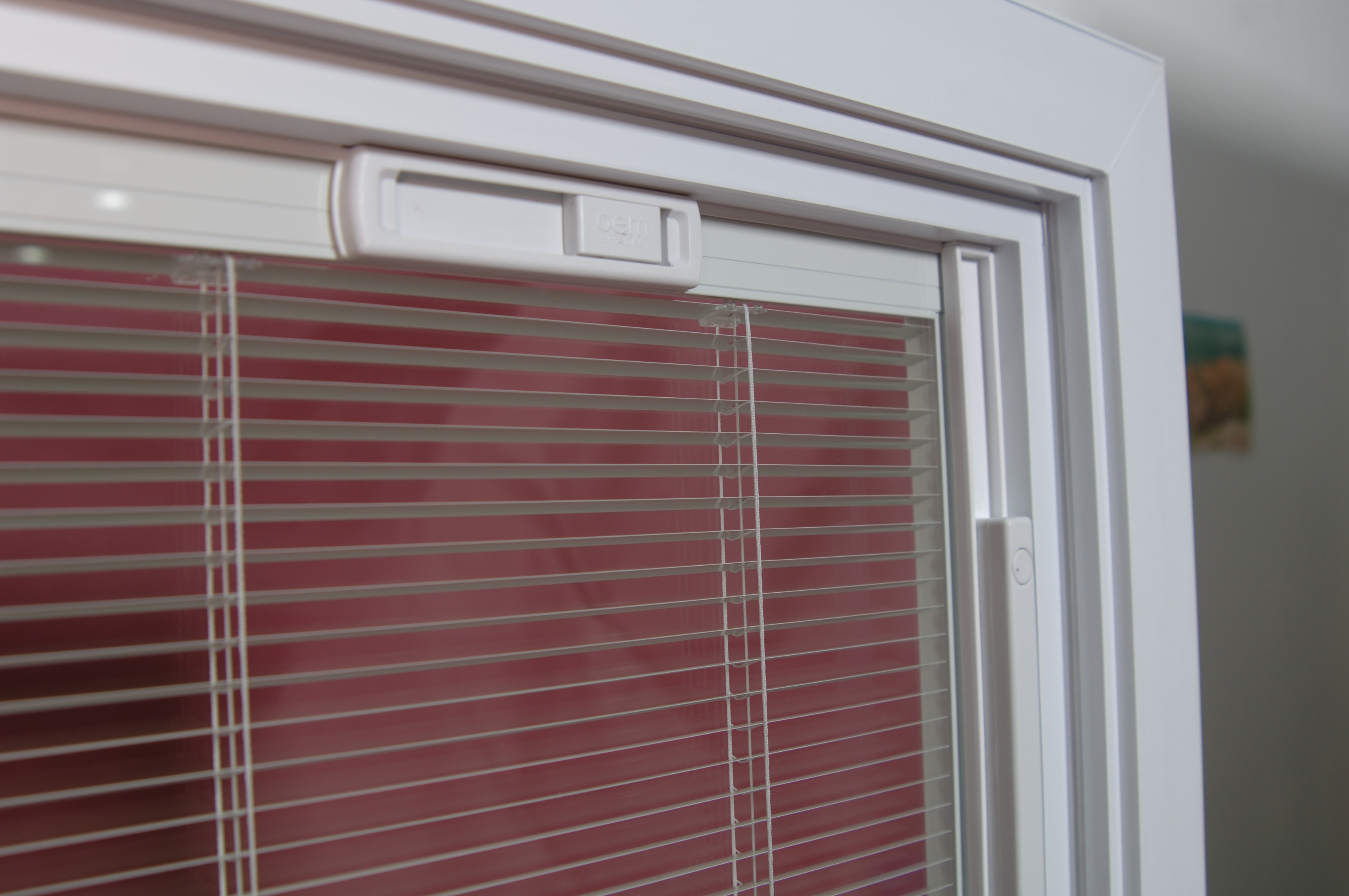 A window with built-in privacy mini-blinds