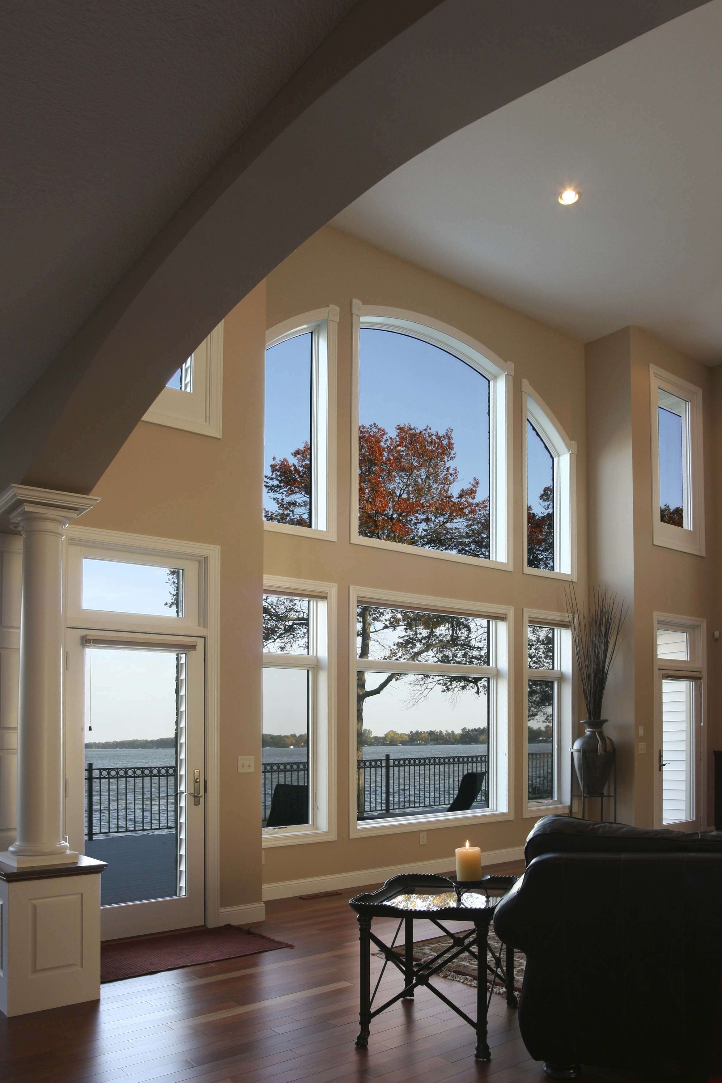 Large living room windows from the inside